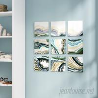 Everly Quinn 'Geode Abstract Waves' 9 Piece Canvas Wall Art Set EYQN4089