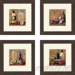 Fleur De Lis Living 'Kitchen Rustic' 4 Piece Framed Painting Print Set QTM1169