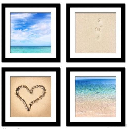 Imagine Letters Inc. 'Beach Beauty' by Neeva Kedem 4 Piece Framed Photographic Print Set IMLI1001