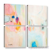 Latitude Run Rosa Abstract 4 Piece Painting Print on Wrapped Canvas Set LATR6193