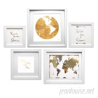 Mercury Row 'Travel the World Collage' 5 Piece Framed Graphic Art Set MCRW5234