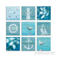 Rosecliff Heights 'Nautical Life' 9 Piece Graphic Art Print on Wrapped Canvas BDEE4390