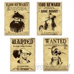 The Beistle Company Pirate Wanted Sign Cutouts Wall Décor TBCY1505