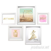 Willa Arlo Interiors 'Je T'aime Paris Collage' 5 Piece Framed Graphic Art Set WRLO1678