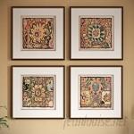 World Menagerie 'Persian Carpet' 4 Piece Framed Graphic Art Set WDMG8189