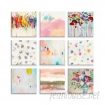 Wrought Studio 'Vibrant Multicolor' 9 Piece Graphic Art Print on Wrapped Canvas BDEE4389