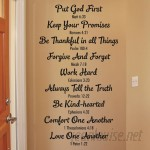 Belvedere Designs LLC Bible Family Rules Wall Quotes™ Decal BVDS1084