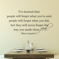 Belvedere Designs LLC People Will Never Forget The Way You Made Them Feel Wall Quotes™ Decal BVDS1048