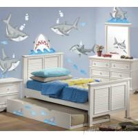 Borders Unlimited 57 Piece Fish'n Sharks Super Jumbo Appliqué Wall Deca Set BBDE1056