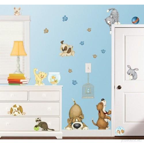 Borders Unlimited At the Pet Shop Super Jumbo Appliqué Wall Decal BBDE1001