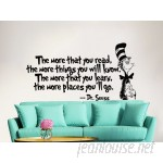 Decal House Dr Seuss the More That You Read Decal Quote Sayings Wall Decal DEHO1053