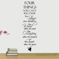 DecaltheWalls Four Things You Can't Recover Quote Wall Decal DTWA1023