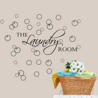 DecaltheWalls Laundry Room with Bubbles Wall Decal DTWA1019
