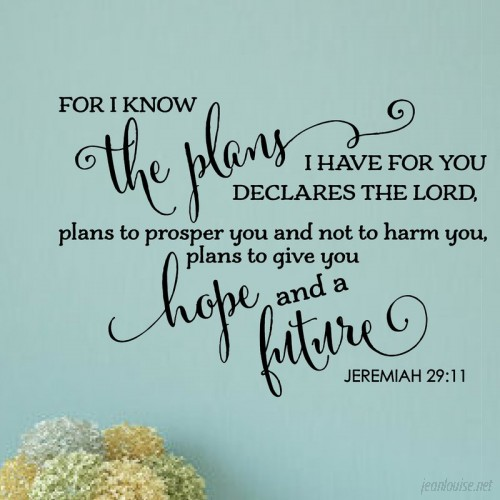 Enchantingly Elegant For I Know the Plans I Have for You Bible Verse Wall Decal ENCE1303
