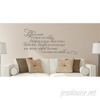 Enchantingly Elegant Life is Short Break the Rules Forgive Love Vinyl Wall Decal ENCE1335