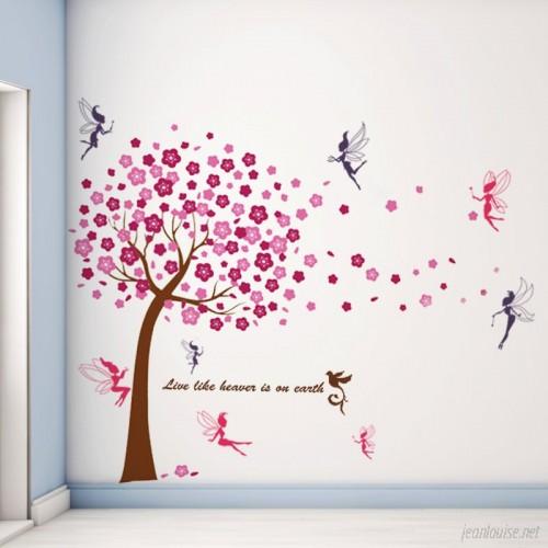 Harriet Bee Bays Huge Tree Fairies Wall Decal HRBE1000