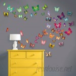 Harriet Bee Beaird Butterfly 3D Colourful Butterfly Wall Decal HRBE1006