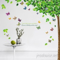 Harriet Bee Beane Leaf 3D Colourful Butterfly Sticker Wall Decal HRBE1008
