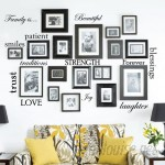 Innovative Stencils 12 Family Quote Words Vinyl Wall Decal ISTC1107
