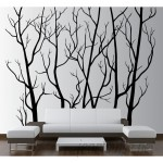 Innovative Stencils Tree Forest Branches with Birds Wall Decal ISTC1027