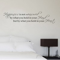 Pop Decors Happiness Is Not Measured by What You Hold in Your Hand Wall Decal POPD1112