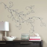 Room Mates Deco Silver Leaf Giant with Pearls Peel and Stick Wall Decal RZM3181