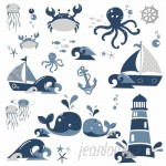Room Mates Nautical Sea Friends Peel and Stick Wall Decals RZM3373