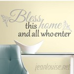 Room Mates Peel and Stick 25 Piece Bless This Home Wall Decal RZM2479