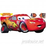 Room Mates Popular Characters Cars Lightening McQueen Giant Wall Decal RZM2267