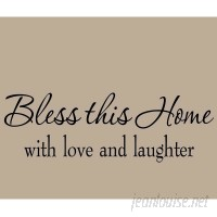 VWAQ Bless This Home with Love and Laughter Wall Decal VWAQ1211