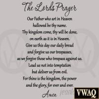 VWAQ The Lord's Prayer Bible Wall Decal VWAQ1197