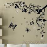 Walplus Butterfly Vine and Swarovski Wall Decal WLPU1134
