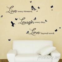 Walplus Lucida Live Laugh Love Wall Decal WLPU1029