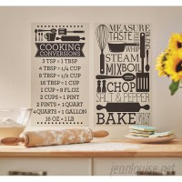 Wrought Studio Temple Cloud Cooking Conversions Wall Decal VRKG5509