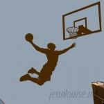 Zoomie Kids Hashimoto 2 Piece Basketball Slam Dunk Wall Decal Set ZMIE7449