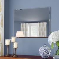 Andover Mills Rectangle Metal Frameless Wall Mirror ANDO2445