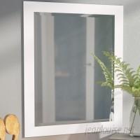 Brayden Studio White Beveled Vanity Wall Mirror BRYS6774