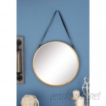 Cole Grey Metal Round Wall Mirror CLRB3173
