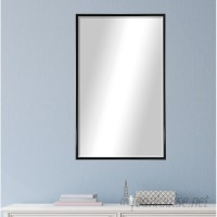 Darby Home Co Rectangle Black Metal Wall Mirror DBYH5338