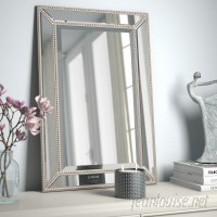 Rosdorf Park Beveled Beaded Accent Wall Mirror ROSP1590