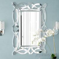 Rosdorf Park Silver Rectangle Wood Wall Mirror ROSP2910