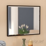 Three Posts Traditional Rectangle Bronze Wall Mirror TRPT1319