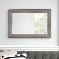 Wade Logan Rectangle Pewter Beveled Wall Mirror WDLN1625