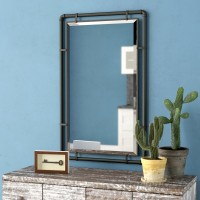 Williston Forge Scottie Industrial Metal Wall Mirror WLFR6179