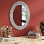 World Menagerie Mosaic Oval Accent Wall Mirror WLDM4927