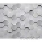 "Brewster Home Fashions Metal Hexagons 8' x 118"" 6 Piece Wall Mural Set BZH9268"