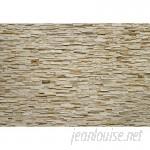 "Latitude Run Cragmont Fine Stone 8.33' L x 12.06"" W 4-Panel Wall Mural WPP2752"
