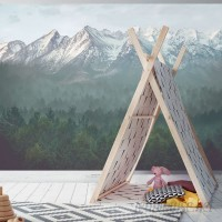Oopsy Daisy The Great Mountains Murals That Stick 6' x 54 Wallpaper OOPS6537
