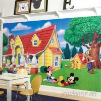 Room Mates Mickey and Friends 10.5' x 72 Wall Mural RZM1928
