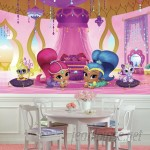 """Room Mates Shimmer and Shine Genie Palace XL Chair Rail Prepasted 10.5' x 72"""" Wall Mural RZM3385"""